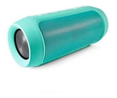 Caixa De Som Charge Mini Bluetooth Usb Sd Verde Promocao
