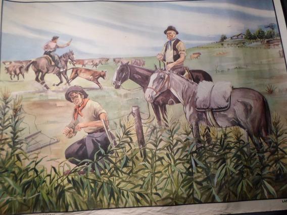 Poster Antiguo Caja Nacional De Ahorro Postal Nº 13