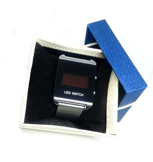 Relógio Digital Led Masculino / Feminino + Caixa Promoção