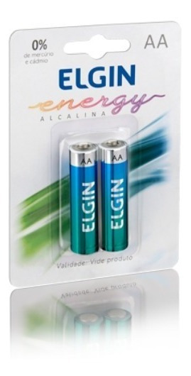 Pilha Alcalina Aa (pequena) Energy 2 Un Elgin