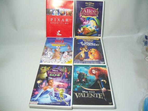Dvds Infantis Walt Disney E Disney Pixar Seis Discos