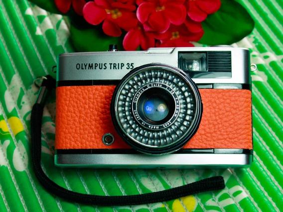 Câmera Fotográfica Olympus Trip 35 - Revisada (laranja)