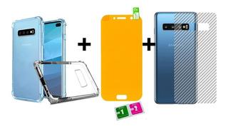Capa Anti Queda + 2 Brinde P Galaxy S8 S9 S10 E Versões Plus