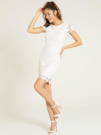 Vestido De Renda Off White Viviene