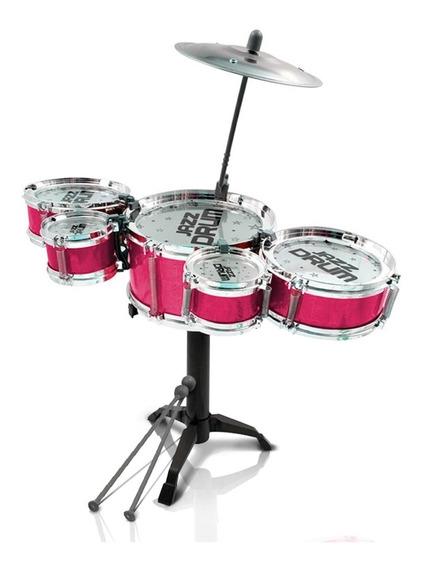 Mini Bateria Musical Infantil Tambor Baquetas Jazz Drum