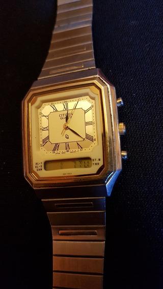 Reloj De Pulsera Vintage Citizen Quartz Gn-4w-s Ana Digi