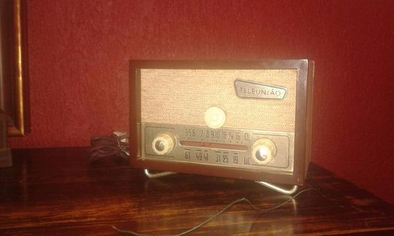 Rádio Antigo, Funcionando 110w Marca Tele União