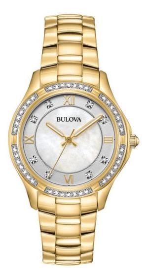 Bulova Crystals 98l256 Frete Grátis - 12x S/ Juros