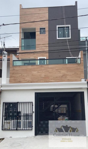 Apartamento Sem Condomínio Para Venda Em Santo André, Vila Curuçá, 2 Dormitórios, 1 Banheiro, 1 Vaga - 00488_1-1728244