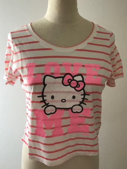 47 Street. Divina Remera Hello Kitty Rayada. Talle 1 (38)