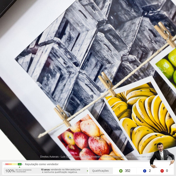 Quadro Caixa - Frutas Mercado Empório Feira Decoração Np