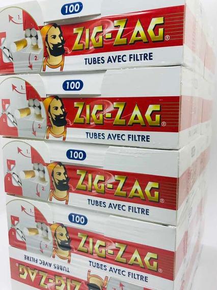 10 Tubos Con Filtro Zig Zag-ocb Para Armar 100u-candyl Once