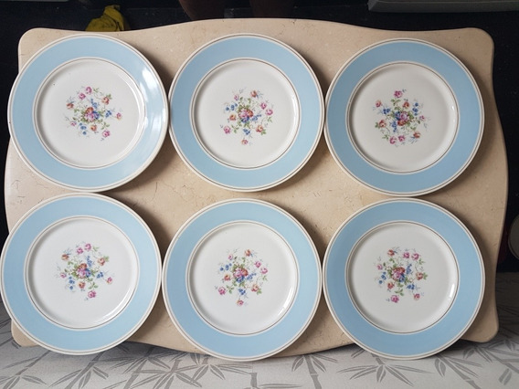 Juego Platos Playos Porcelana Antigua Limoges Haviland