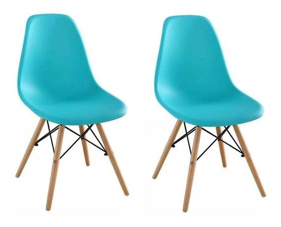 Cadeira Charles Eames Wood Design Kit 02pc Nf Dsw