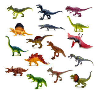 Dinosaurio Goma Mediano 20cm Dino Juguete Jurasick Varios