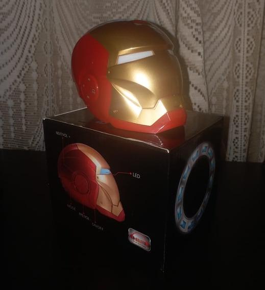 Caixa De Som Homem De Ferro Sem Fio Bluetooth Speaker Fm Usb