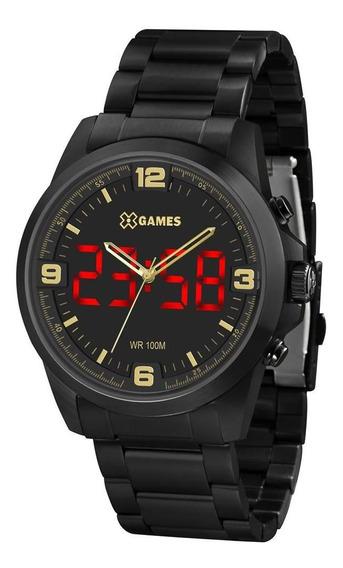 Relógio X Games Masculino Ref: Xmnsa002 P2px Led Black