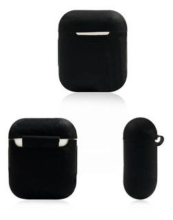 Estuche Para Auriculares De AirPods En Silicona Negro