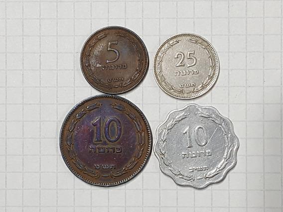 Israel Colección 4 Monedas Muy Antiguas Muy Lindas Y Escasas