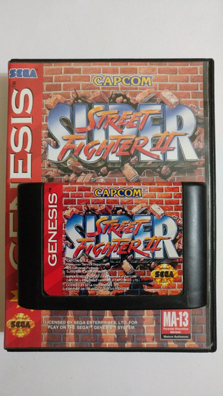 Mega Drive: Super Street Fighter Ii Original Na Caixa! Raro!