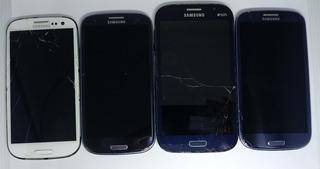 2° Lote C/ 04 Samsung Galaxy Original C/defeito S/garantia