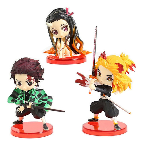 Demon Slayer Set X3 Personajes Tanjirou Nezuko Zenitsu