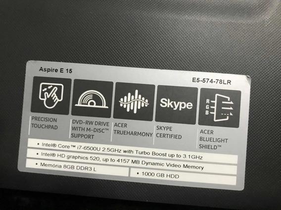 Notebook Acer Aspire 5   Intel Core I7   8gb Ram   1000gb Hd