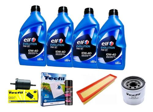 Imagem 1 de 1 de Kit Filtro Ar Combustiv 10w40 Elf Óleo Clio 1.0 16v 13 14 15