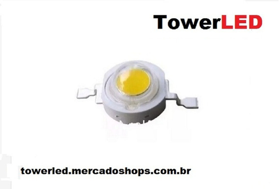 Super Chip Power Led Luz Branca Fria 1w 6500k - 70 Unidades