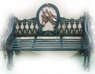 Banca De Aluminio Para Jardín, Patio Y Terraza - Caballo