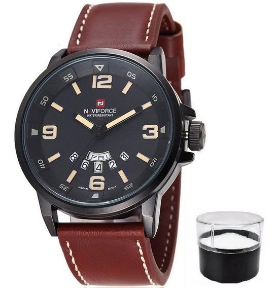 Relógio Naviforce Original Modelo 9028 Estojo E Nota Fiscal