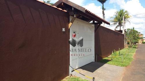 R$ 850.000,00 - Chácara Com 3 Dormitórios À Venda, 2500 M² - Condomínio Estância Beira Rio - Jardinópolis/sp - Ch0007