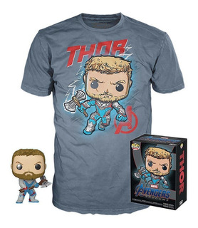 Funko Pop Avengers Endgame Thor 452 Glow Y Remera Exclusiva