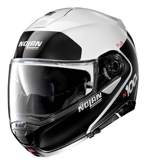 Casco Nolan Abatible N100-5 Distinctive N-com 22 Bco Mh&s