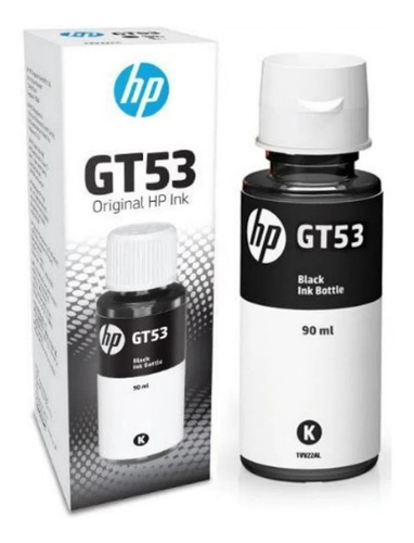 Botella Tinta Hp Gt51 / Gt53 Negro 4000 Hojas Original 90ml