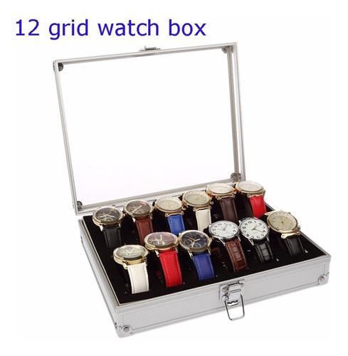 12 Slots Grid Relógio Acrílico Jóias Display Box Pr