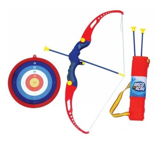 Arco E Flecha Kit Infantil C/ Aljava + 3 Flechas+ Alvo - Bel