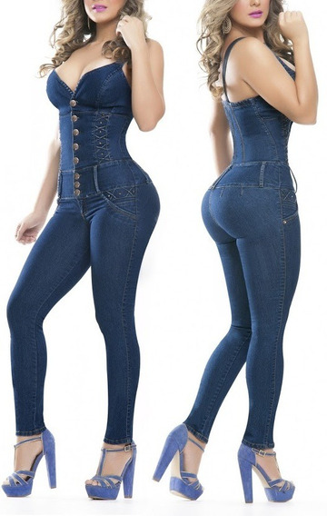 Braga Jean Stretch Sin Mangas Casual Todas Las Tallas.