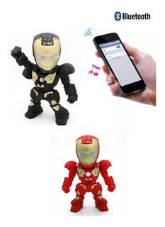 Parlante Portátil Inalámbrico Bluetooth Iron Man Articulado
