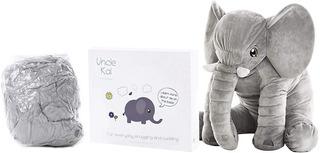 Elefante De Peluche Gigante 64 Cm Hermoso Moño Incluido