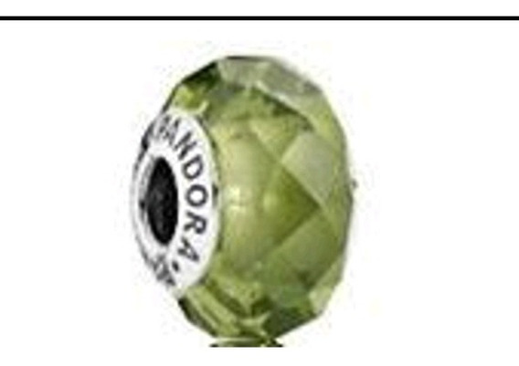 Charm Verde Olivo Cristal Facetado 791729nlg Sin Caja
