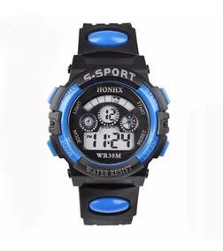 Relógio Infantil Menino, Digital Led, Sport + Brinde + Nf
