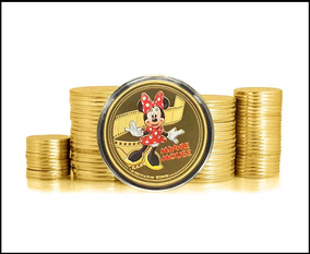 New Zealand Minnie Mouse 2018 Banhada A Ouro Fc * C O L *
