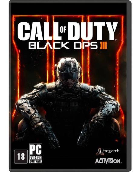 Jogo Novo Lacrado Call Of Duty Black Ops 3 Para Pc - Mídia