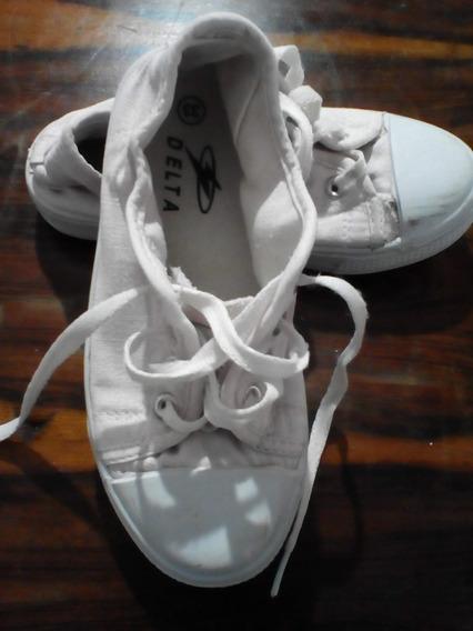 Zapatos Deportivos No.32 Marca Delta Niña