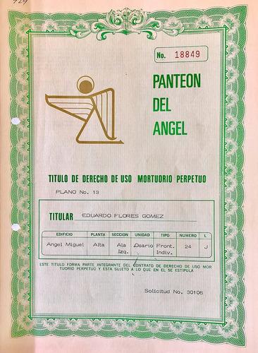 Imagen 1 de 1 de Osario En Mausoleos Del Angel. Para Cuatro Urnas.perpetuidad