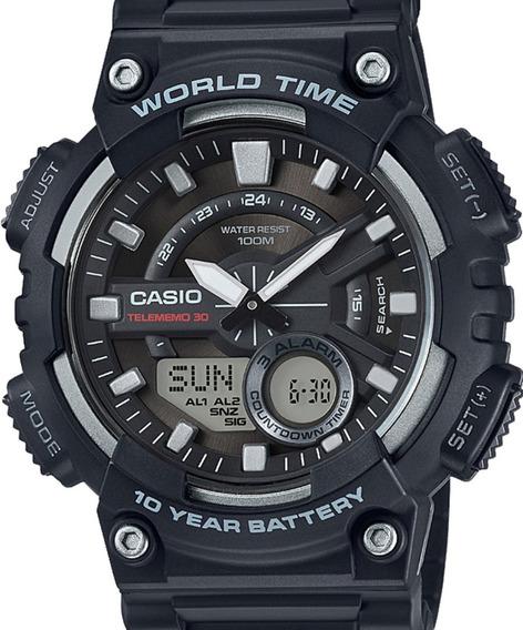 Relógio Casio Masculino Anadigi - Aeq-110w-1avdf-br