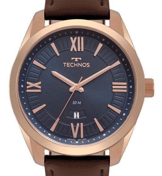 Relógio Technos Masculino Rose 2115mso/2a Original + Nf-e
