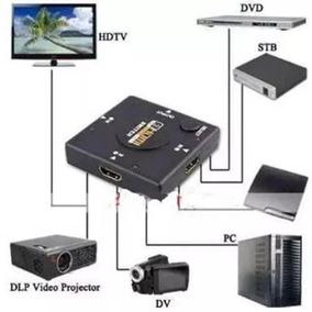 Mini Hub Switch Chaveador Hdmi 3 Portas Full Hd 1080p 3x1
