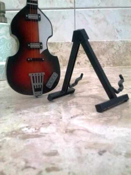 Miniatura Guitar Collection Base Pedestais Guitarra E Violao